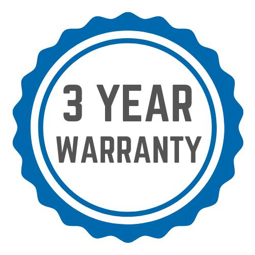 3-year warranty logo
