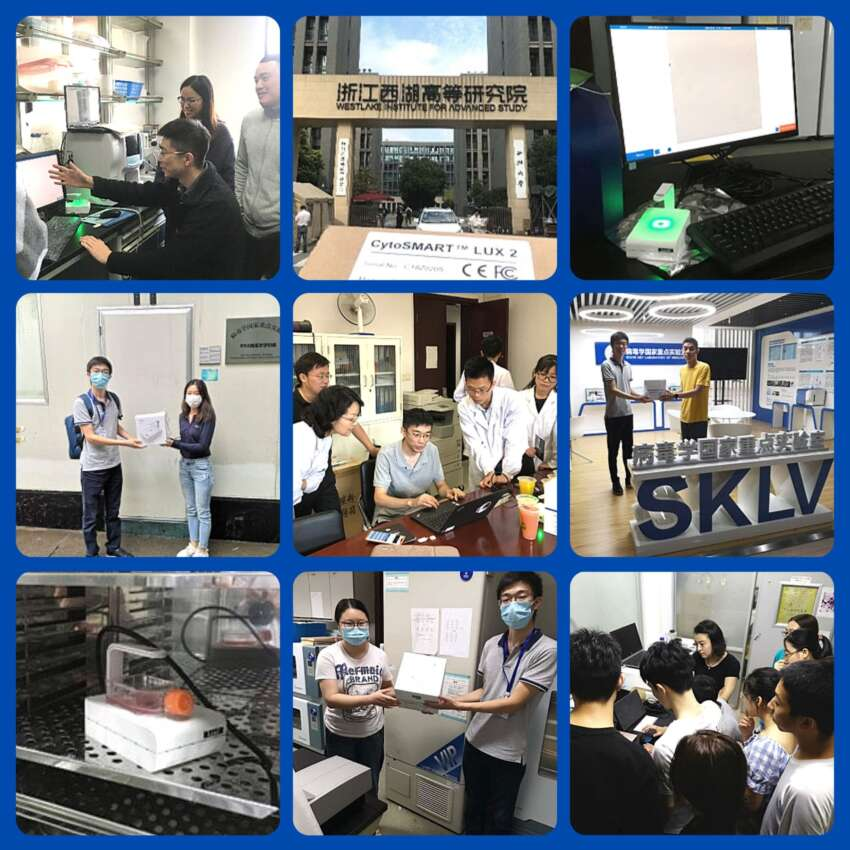 CytoSMART Lux2 live cell imaging donation in China for COVID19 research